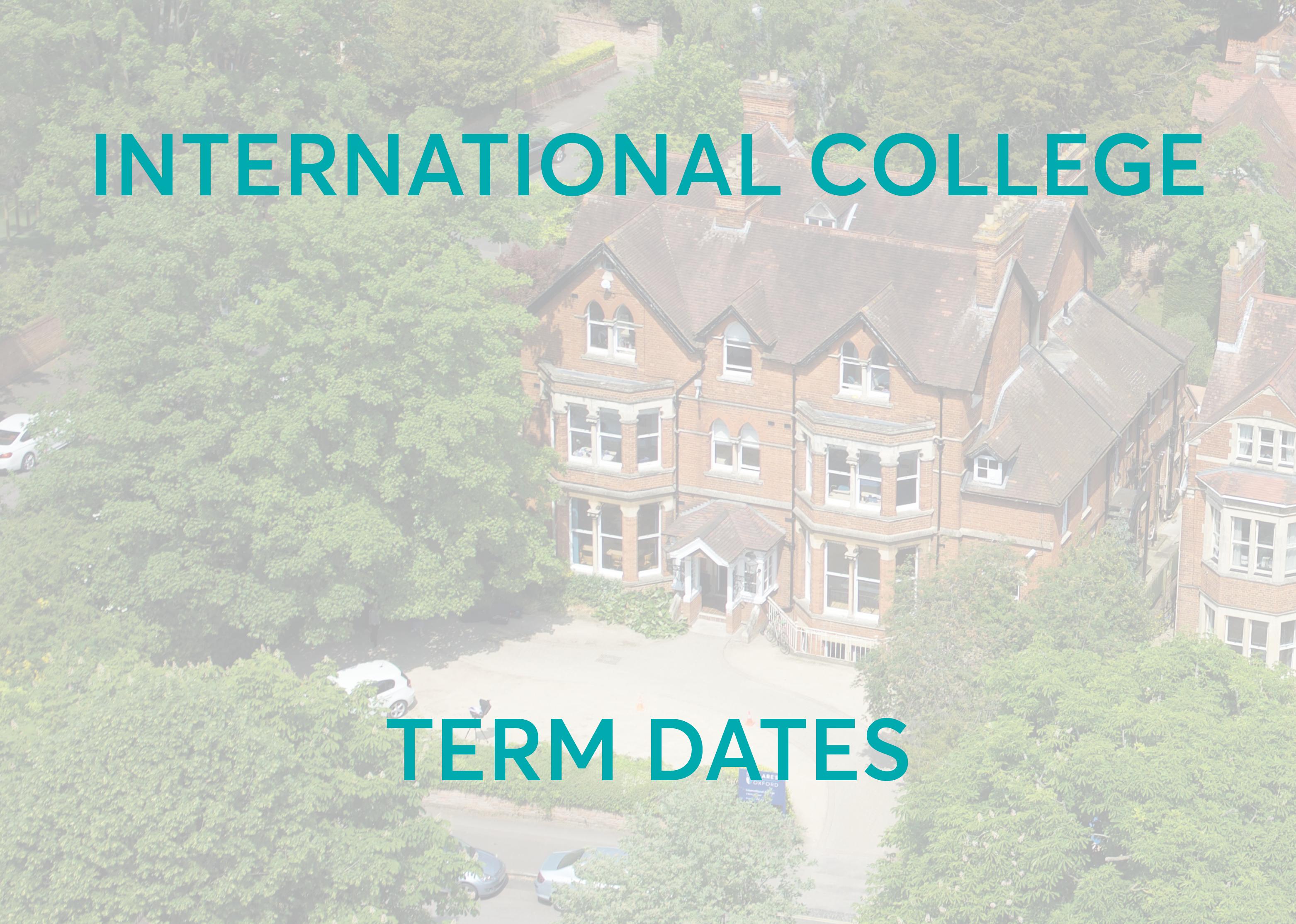 University Foundation Programme Term Dates