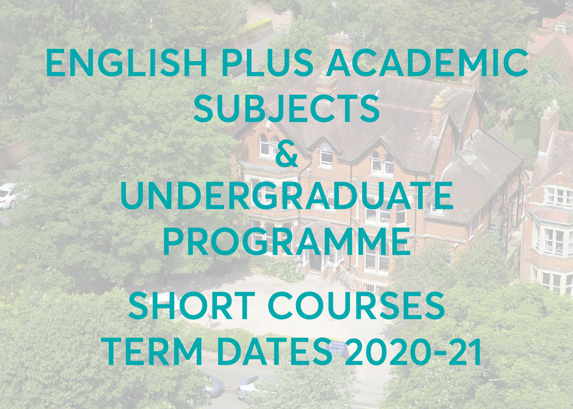 Undergraduate Programme Term Dates
