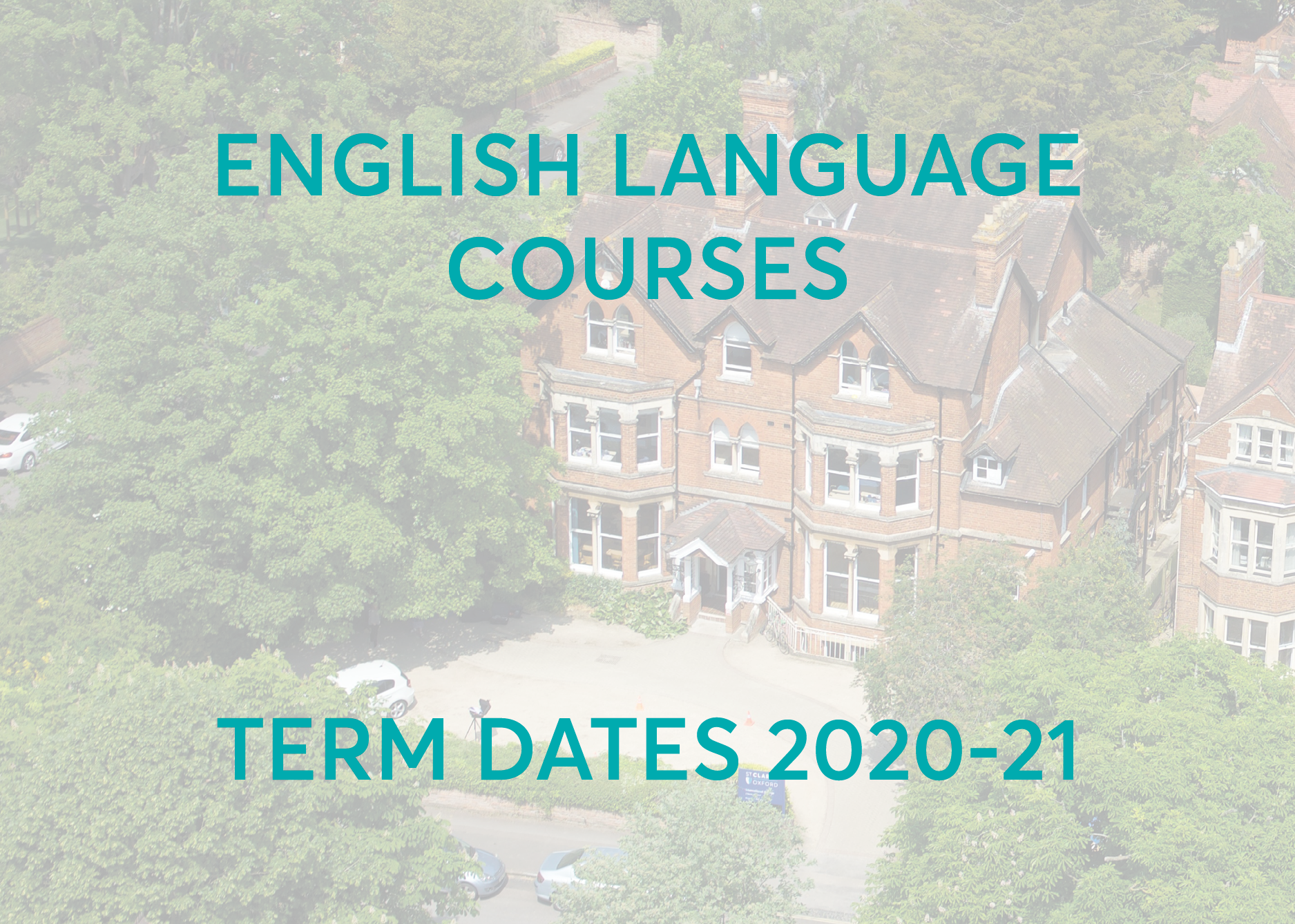 English language courses term dates