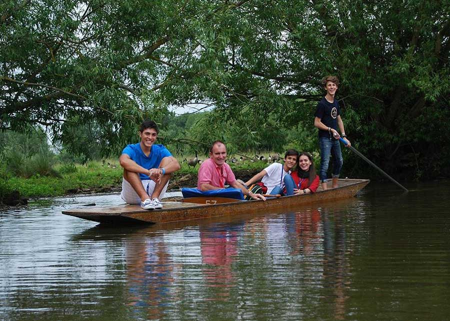 Five in a boat
