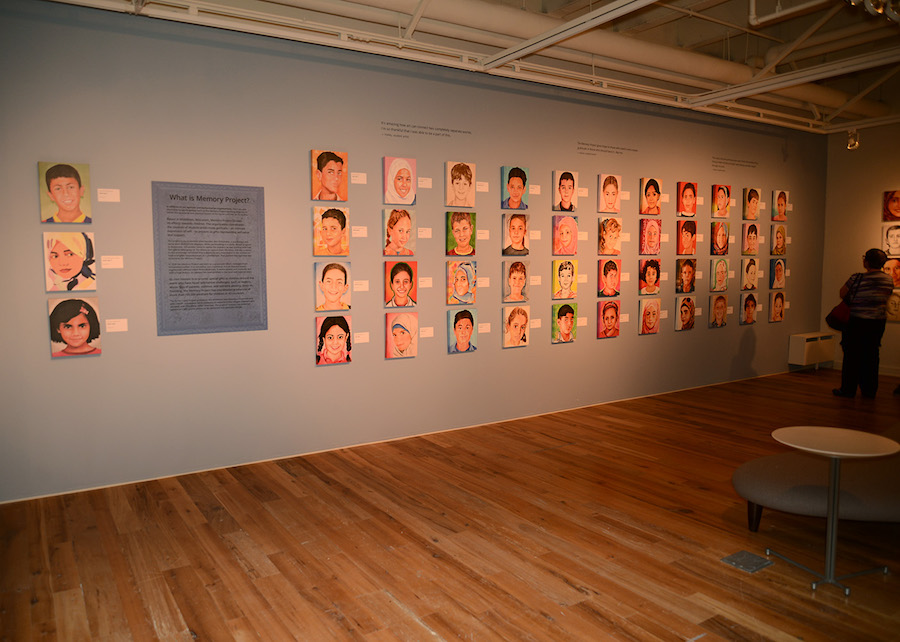 The Memory Project art display, University of Wisconsin